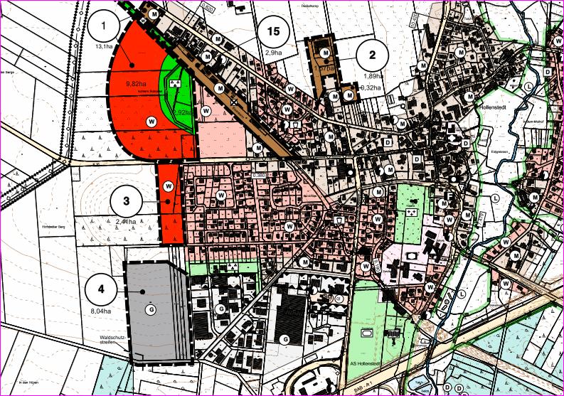 Flächennutzungsplan der Gemeinde Hollenstedt aus dem Jahre 2011 - Wilkens-Immobilien - © 2017