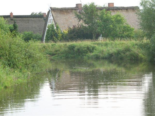 Sommerhochwasser der Lühe - sehr begehrt sind die selten angebotenen Wassergrundstücke im Alten Land. - Wilkens-Immobilien - 2017